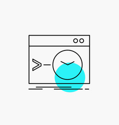 Admin command root software terminal line icon vector