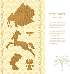Ancient egypt cards template vector