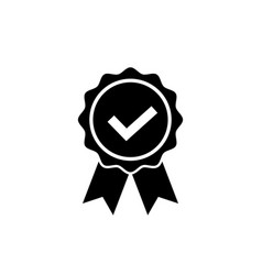 approved or certified medal icon award symbol vector image