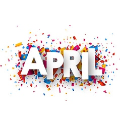 April sign vector