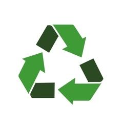 Arrow recycle circle organic ecology icon vector