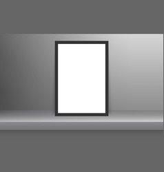 blank frame in empty white color shelf vector image