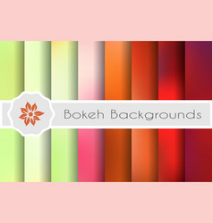Bokeh backgrounds set vector