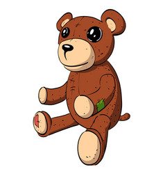 Cartoon image of teddy bear vector