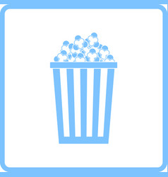cinema popcorn icon vector image