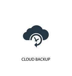 Cloud backup icon simple element vector
