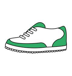 Color silhouette cartoon golf shoes port equipment vector