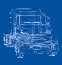 Concept truck rendering of 3d vector