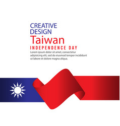 Creative design taiwan independence day vector