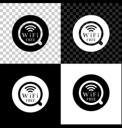 cup coffee shop with free wifi zone icon vector image