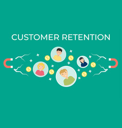 Customer retention flat vector