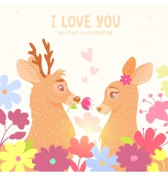 deers romantic vector image