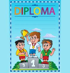 Diploma topic image 3 vector