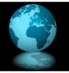 earth blue vector image vector image