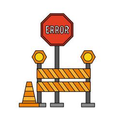 Error sign icon image vector