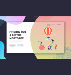 finding better mortgage landing page vector image