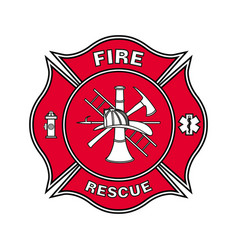 fire department emblem st florian maltese cross vector image