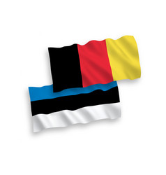 flags of belgium and estonia on a white background vector image