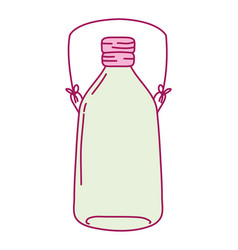 full color long mason jar with wire handle vector image