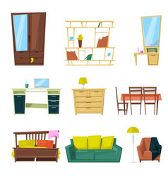furniture furnishings design of sofa couch vector image