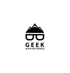 Geek adventures logo design icon vector