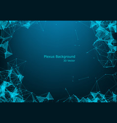 Geometric graphic background molecule vector
