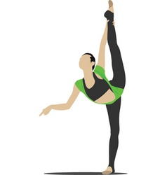 gymnastics vector image