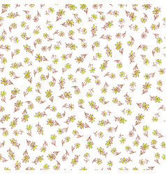 Hand drawn flower seamless pattern vector