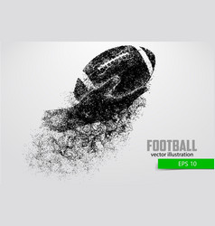 Hand holds rugball silhouette from vector