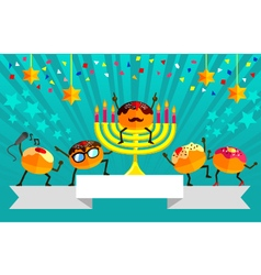 Hanukkah party vector