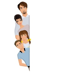 Happy family banner vector image vector image