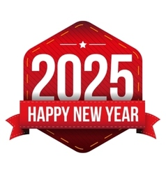 Happy New Year 2025 vector image