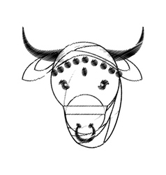 Head indian sacred cow fertility and maternity vector