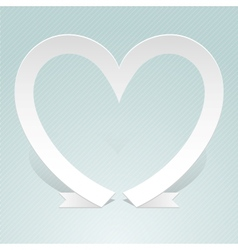 Heart made from red paper ribbon Origami style vector image
