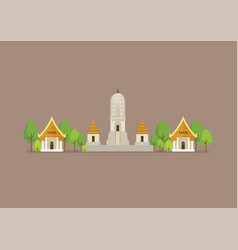 Historical ancient white temple vector