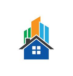Home skyscrapers business logo vector