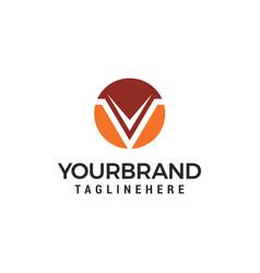 letter v circle logo design template elements vector image