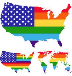 lgbt rights symbols gay parade slogan vector image