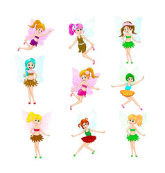 lovely little fairies vector image