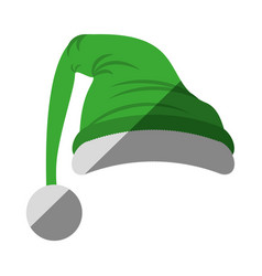 merry christmas hat isolated icon vector image