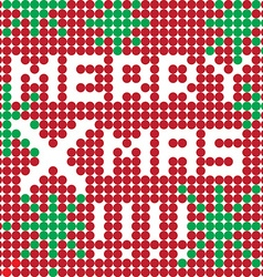 Merry xmas dots vector