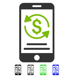 Mobile payment flat icon vector