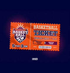 modern professional design basketball tickets vector image