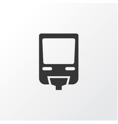 monorail icon symbol premium quality isolated vector image