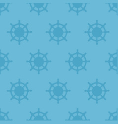 nautical texture with steering wheels vector image