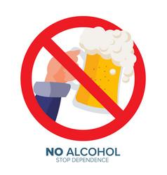 no alcohol symbol ban liquor label vector image