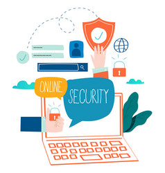 Online security data protection vector
