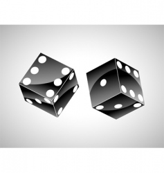 Orange dice vector