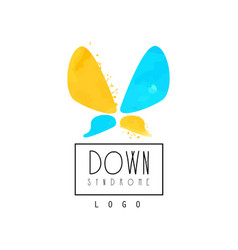 original logo with abstract butterfly for vector image