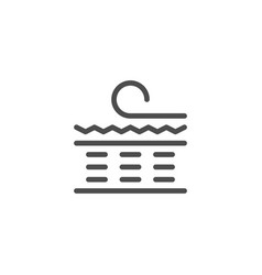 Orthopedic mattress scheme line icon vector